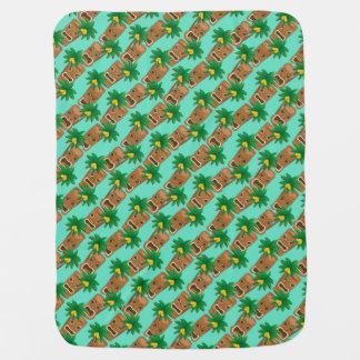 Cobertor De Bebe Teste padrão havaiano da repetição de Tiki