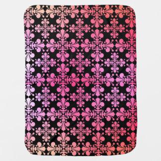 Cobertor De Bebe Teste padrão multicolorido bonito da flor de lis