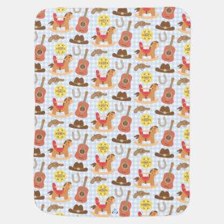 Cobertor De Bebe Teste padrão ocidental bonito do vaqueiro para