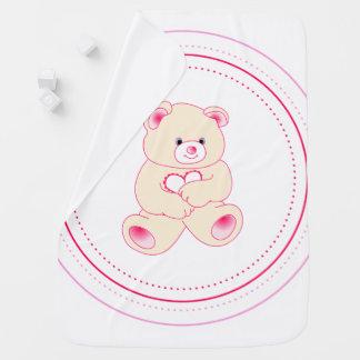Cobertor De Bebe Urso cor-de-rosa do bebê - menina