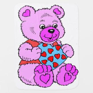 Cobertor De Bebe Urso de ursinho roxo colorido