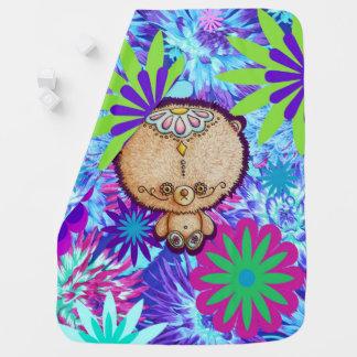 Cobertor De Bebe Urso do hippy