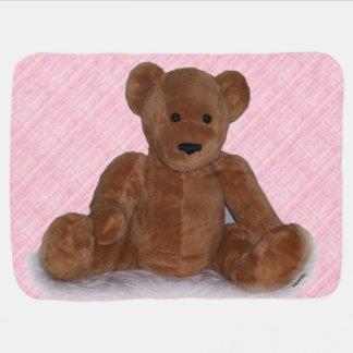 Cobertor De Bebe Urso no rosa