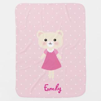 Cobertor De Bebe Urso pequeno bonito com a cobertura do bebê das