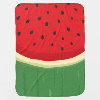 Cobertor De Bebe Vermelho feito sob encomenda da melancia e verde
