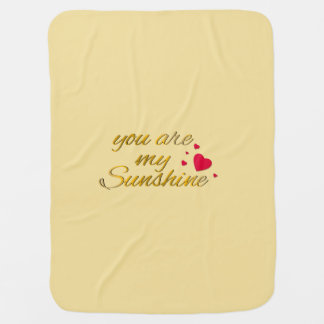 Cobertor De Bebe Você é meu berçário do amarelo do ouro das