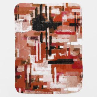 Cobertor De Bebe Weave pintado - vermelho