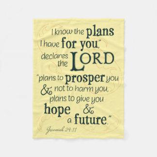 Cobertor De Velo 29:11 de Jeremiah eu sei os planos que eu tenho
