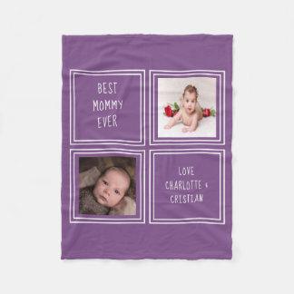 Cobertor De Velo 2 foto e texto criam seus próprios personalizados