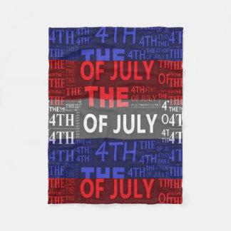 Cobertor De Velo 4o da cobertura do velo de julho, pequeno