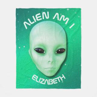 Cobertor De Velo A alienígena é mim esverdeia a cara estrangeira