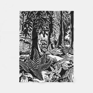 Cobertor De Velo A arte da paisagem cobre coberturas da floresta de