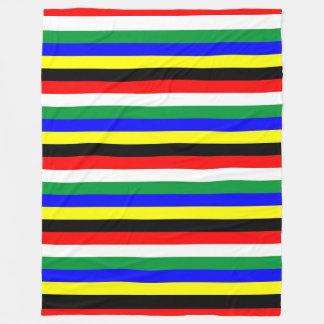 Cobertor De Velo A bandeira de África do Sul listra linhas símbolo