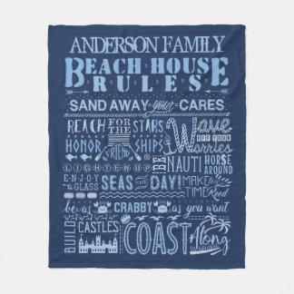 Cobertor De Velo A casa de praia ordena a família litoral do