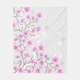 Cobertor De Velo A cereja japonesa floresce a cobertura do velo