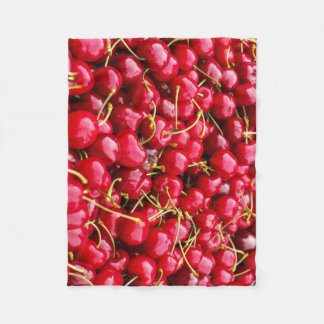 Cobertor De Velo a cereja vermelha bonito deliciosa frutifica