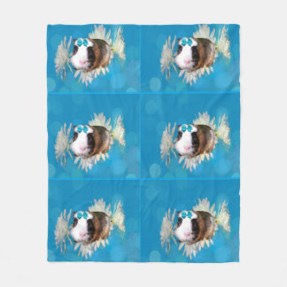 Cobertor De Velo A cobaia azul floresce a cobertura média do velo