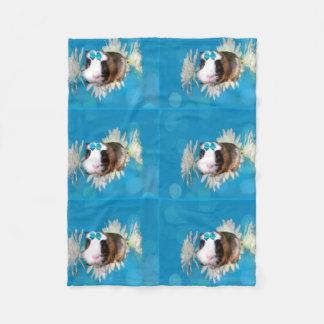 Cobertor De Velo A cobaia azul floresce a cobertura pequena do velo