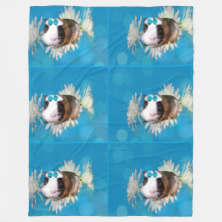 Cobertor De Velo A cobaia azul floresce a grande cobertura do velo