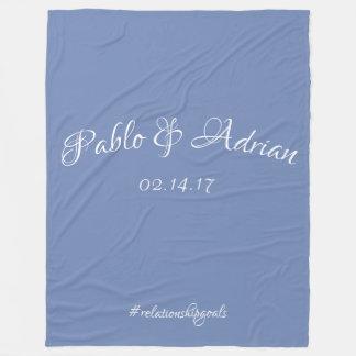Cobertor De Velo A cobertura do casal (azul)