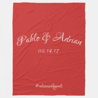Cobertor De Velo A cobertura do casal (vermelha)
