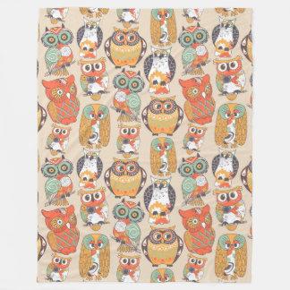 Cobertor De Velo A coruja seja cobertura do velo da coleção