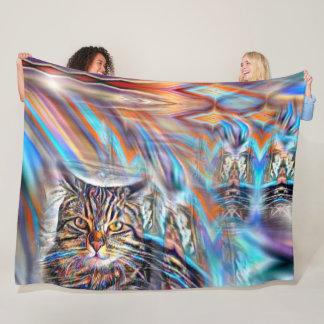 Cobertor De Velo À deriva no gato tropical do por do sol das cores