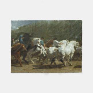 Cobertor De Velo A feira de cavalo pela cobertura do velo de Rosa