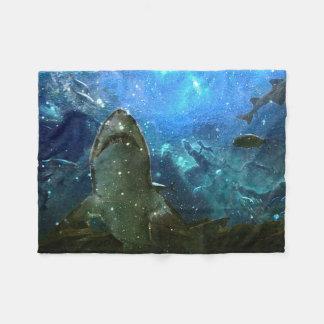 Cobertor De Velo A grande lâmpada marinha da lava do tubarão branco