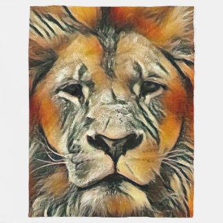 Cobertor De Velo A maioria de leão masculino colorido popular