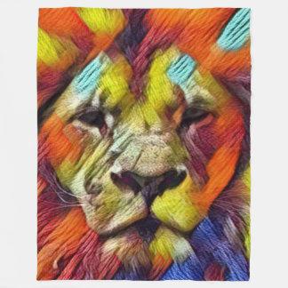 Cobertor De Velo A maioria de leão popular do arco-íris