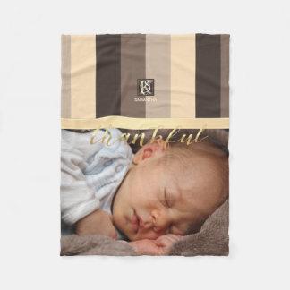Cobertor De Velo A paleta de cores de Latte do Mocha listra o