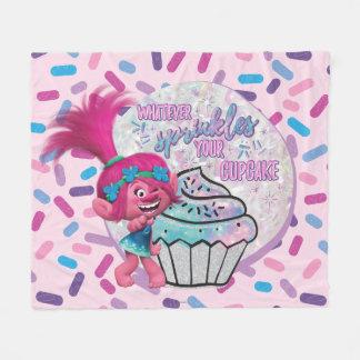 Cobertor De Velo A papoila dos troll   polvilha seu cupcake