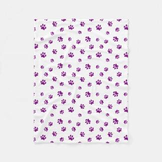 Cobertor De Velo A pata roxa imprime o teste padrão
