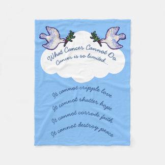 Cobertor De Velo A paz mergulhou que cancer não pode fazer a