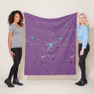 Cobertor De Velo A pintura da arte abstracta espirra e pontos