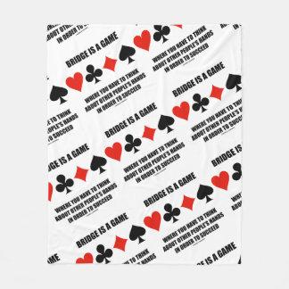 Cobertor De Velo A ponte é um jogo onde pense as mãos do outro