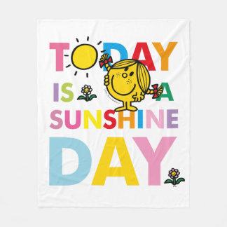 Cobertor De Velo A senhorita pequena Luz do sol | é hoje um dia da
