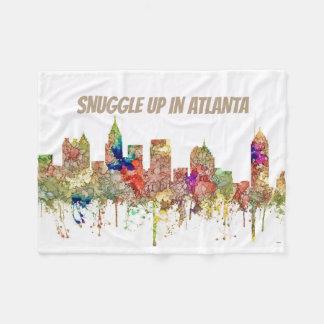 Cobertor De Velo A skyline de Atlanta Geórgia SG-Desvaneceu-se