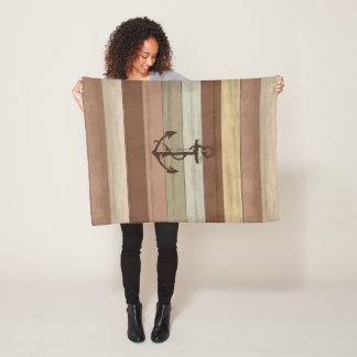 Cobertor De Velo A terra rústica tonifica as listras & a âncora