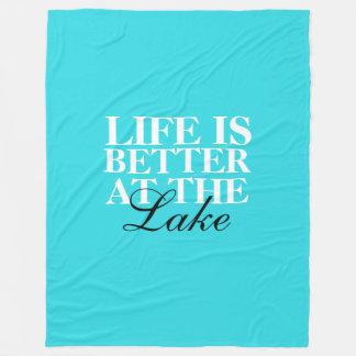 """Cobertor De Velo A """"vida é melhor cobertura do velo no lago"""","""