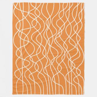 Cobertor De Velo Abstrato 010517 - Branco na laranja EA8430