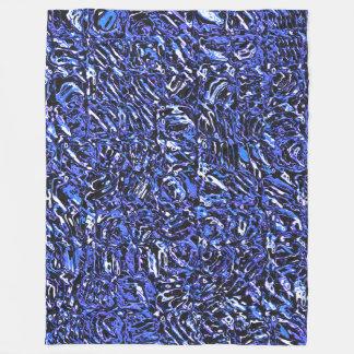 Cobertor De Velo Abstrato azul do vidro