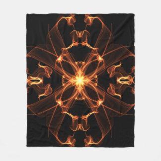 Cobertor De Velo Abstrato cobertura alaranjada e amarela de 49 do