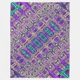 Cobertor De Velo Abstrato colorido da miçanga de vidro