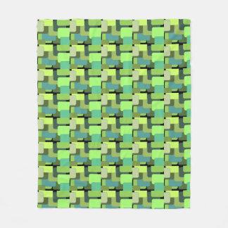 Cobertor De Velo Abstrato geométrico verde