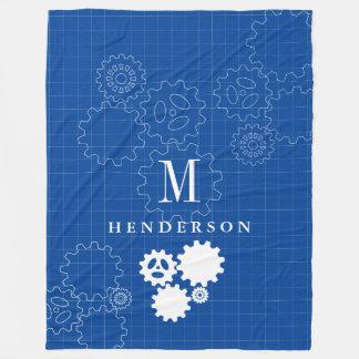 Cobertor De Velo Adulto feito sob encomenda do monograma do estilo