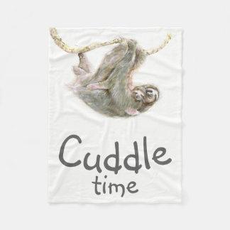 """Cobertor De Velo """"Afague mamã e bebê da preguiça do tempo"""" fáceis"""