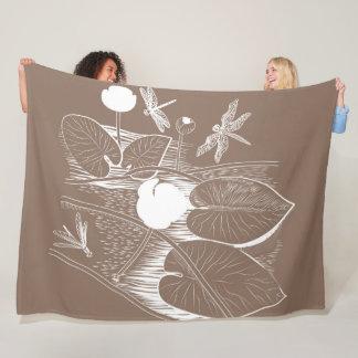 Cobertor De Velo Água-lírios que gravam