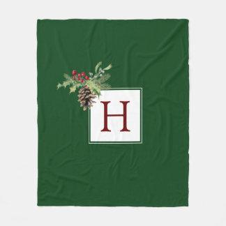 Cobertor De Velo Aguarela do Natal | - azevinho & Pinecone do
